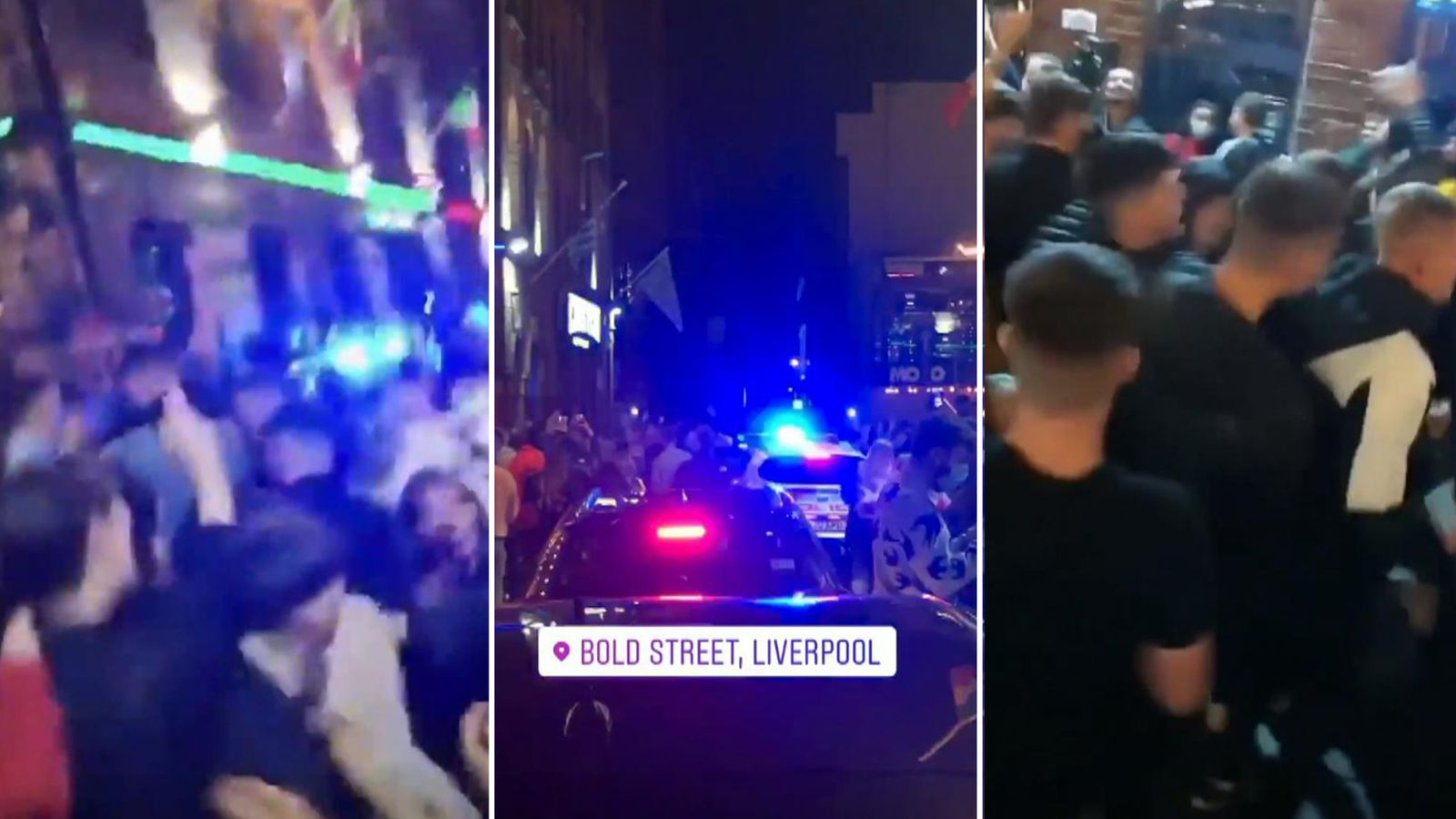 Corona virus: 'Large crowd' disperses from Liverpool city center – two hours before the start of the crackdown  UK News