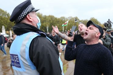Corona virus: Police officers injured in anti-lockdown protests in central London | UK News