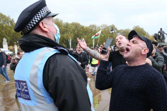 Corona virus: Police officers injured in anti-lockdown protests in central London   UK News