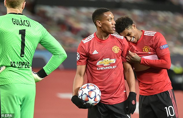 Rashford may have scored four goals five minutes before United spot-kick for designated penalty shooter Anthony Marshall.