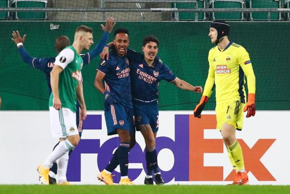 Quick Vienna 1-2 Arsenal FC Live! Party, Leno and many more Europa League latest result reaction from Arterita