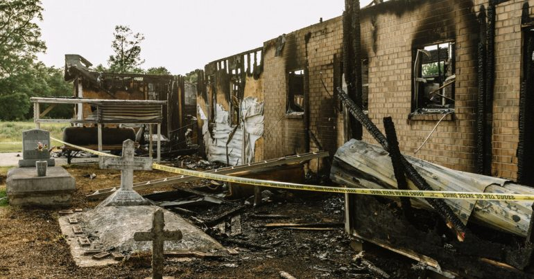Man jailed for 25 years for burning 3 black churches in Louisiana