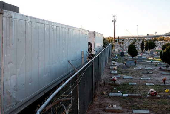 Upon admission to the hospital, El Paso arrives at the new mobile morgue
