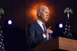 """""""We're going to win this race,"""" Biden says as his lead grows in Pennsylvania and Georgia."""