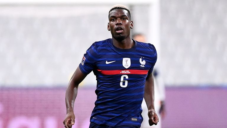 Paul Pogba was featured in all three matches for France during the recent international break