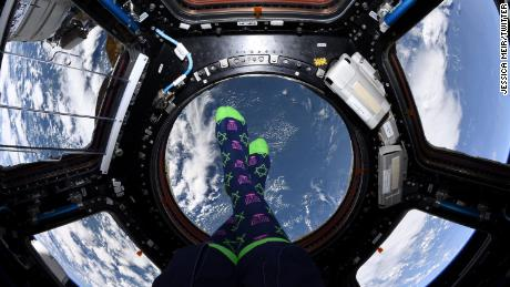 Astronaut Jessica Meyer celebrates Hanukkah from anywhere else in space