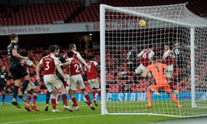 Pierre-Emerick Abameyang's title slips into Arsenal's net as he scores his own goal that led to Burnley's victory.