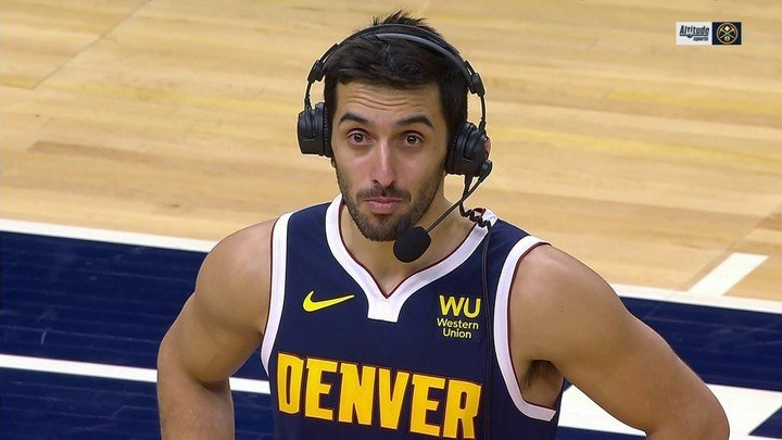 Facundo Campazzo in the Nuggets Triumph.