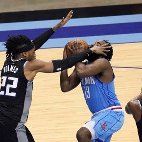 And you see it, you see it, it's James Harden and ballet