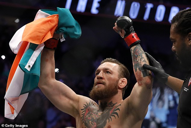 Conor McGregor on Wednesday pledged to fight personal injury and assault lawsuits filed against him by two women over incidents allegedly occurring in 2018. Pictured: Conor McGregor celebrates after winning a fight on January 18, 2020.