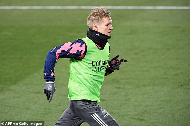 The Norwegian, who is just 22 years old, trains with Real Madrid earlier this month