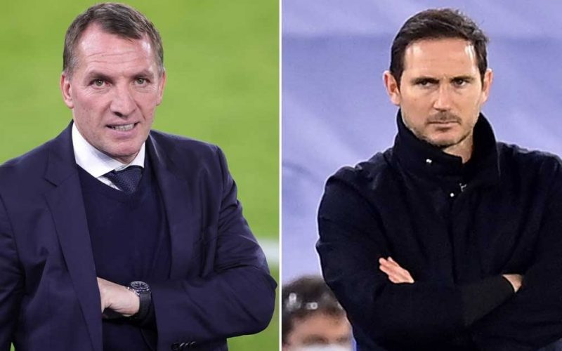 Chelsea could turn to Brendan Rodgers if Frank Lampard sacks his coach under fire