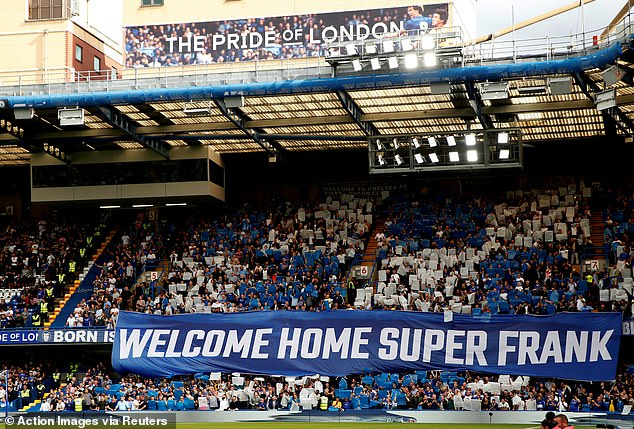 Some of the fans who celebrated Lampard's arrival as coach intend to continue paying homage to him