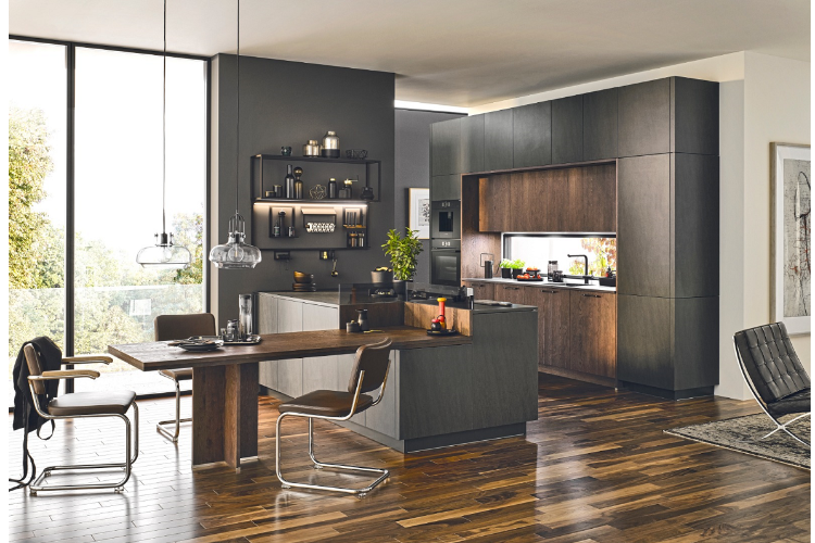 The new KüchenHouse collection transforms the kitchen into a multifunctional space