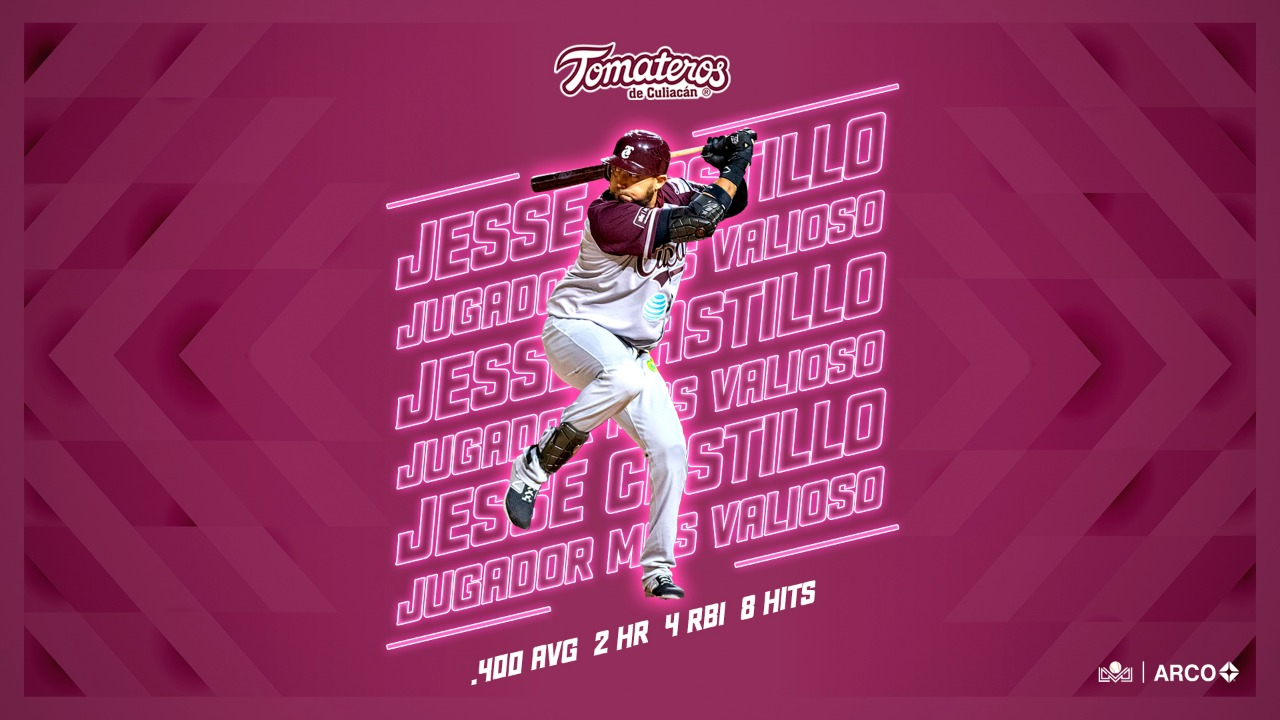 Jesse Castillo LMP MVP Final Liga ARCO Mexicana Pacífico Tomateros Culiacán News Results Today