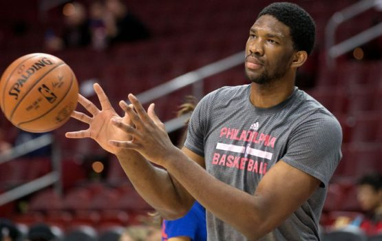 76 players wait for Joel Ambed to return to face the Celtics
