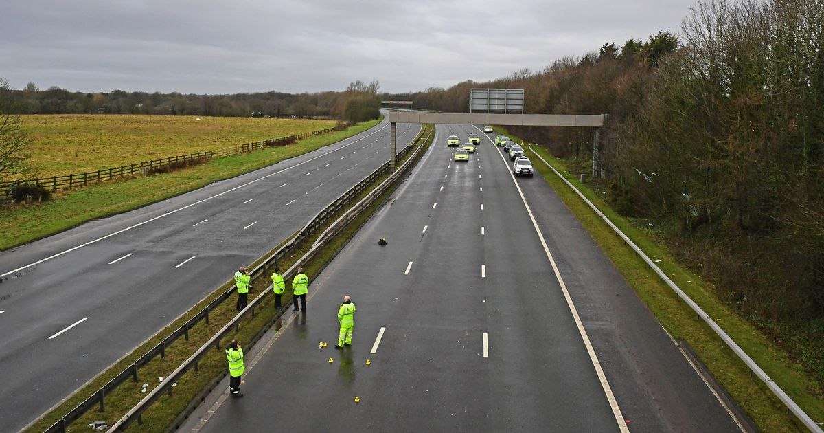 A woman in her 50s, dies after crashing four vehicles on the M62