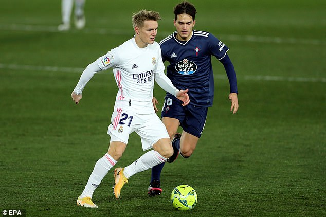 Martin Odegaard has appeared only nine times for Real Madrid this season and is set to take out on loan