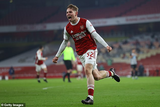 Emil Smith Rowe's latest performance on his rise at Arsenal saw him score against Newcastle