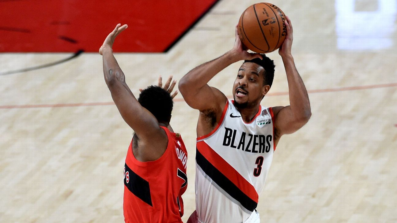 Portland Trail Blazers CJ McCollum will miss at least four weeks due to a minor left foot fracture