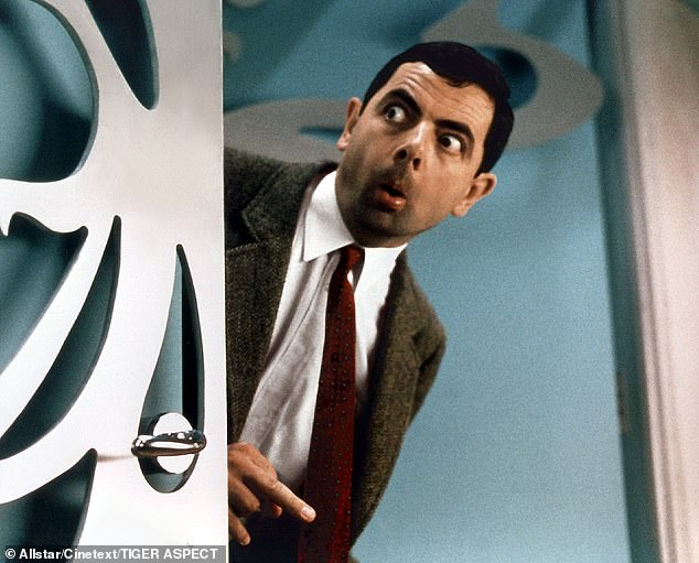 He is one of the most famous comedians in Britain and he is loved all over the world.  But Rowan Atkinson revealed that he finds playing Mr. Bean (pictured) cumbersome and stressful.