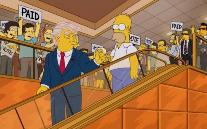 "The animated series ""The Simpsons"" predicts the inauguration of Joe Biden"