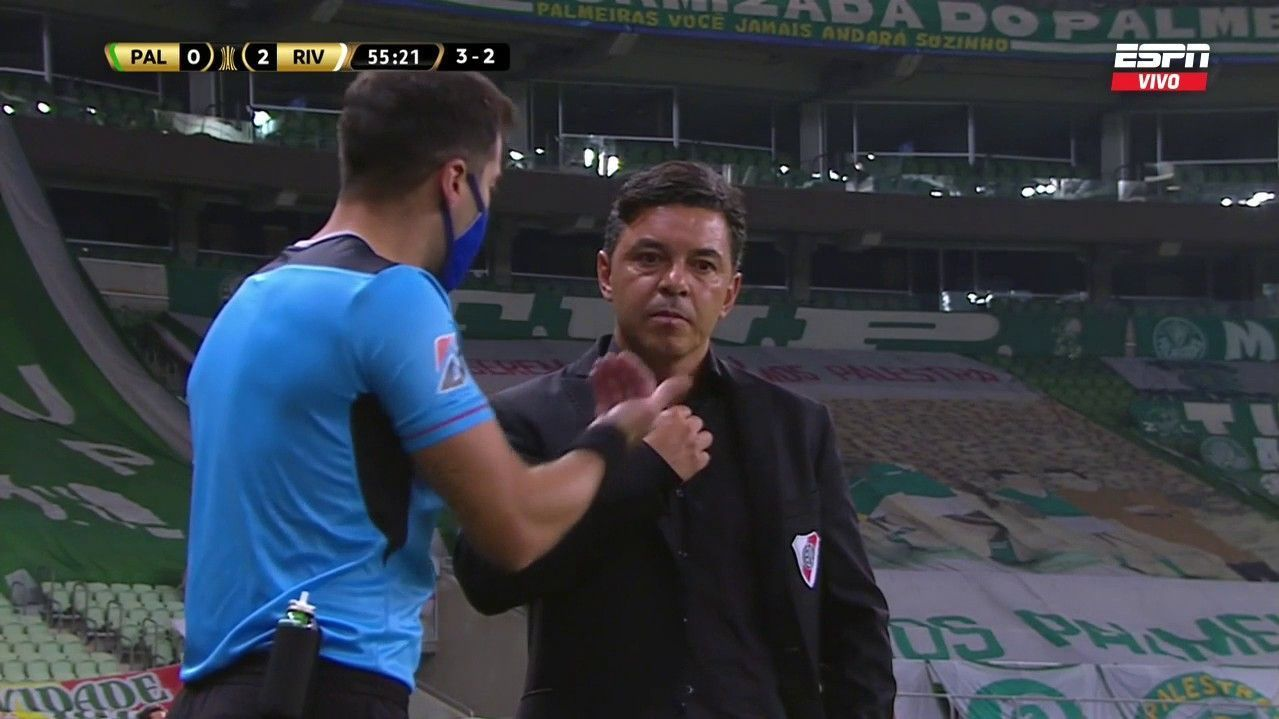 Video Assistant Judgment and Disputes in Palmeiras v. River;  Goal canceled by Gonzalo Montiel and penalty by Matthias Suarez