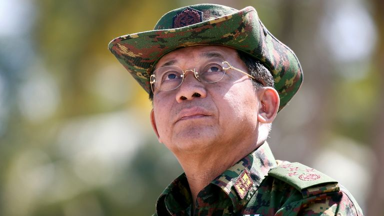 Commander-in-Chief of the Myanmar Army, General Min Aung Hlaing