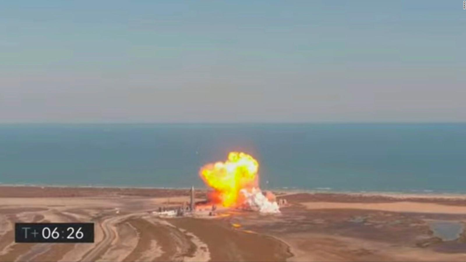 The SpaceX rocket exploded during the test, the causes of which are being investigated