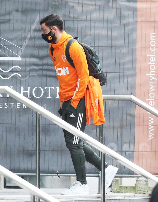 Bruno Fernandez arrives at the Lowry Hotel.