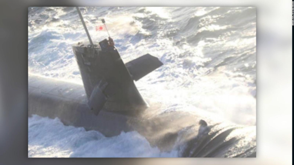 Submarine and ship collision in Japan