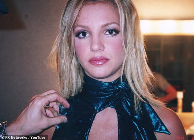 Breaking her silence: Britney appeared to be taking on the issue and the latest documentary earlier this week: