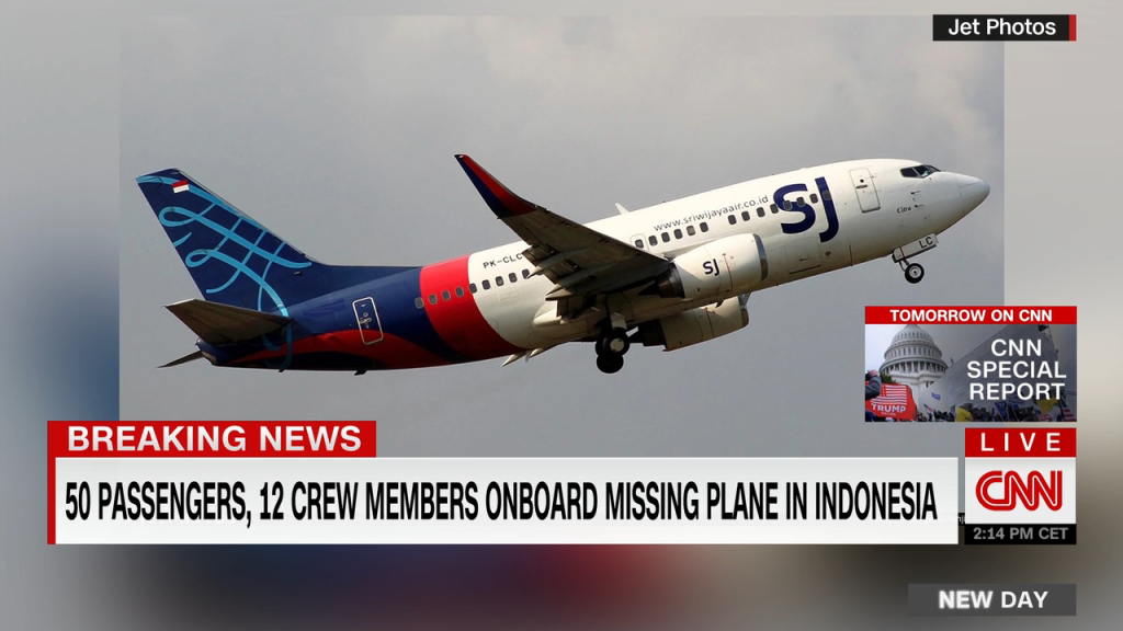 A plane in Indonesia disappears minutes after take-off