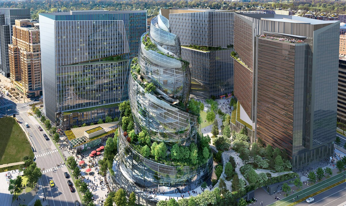 Amazon reveals plans to build an office tower in the shape of a snail