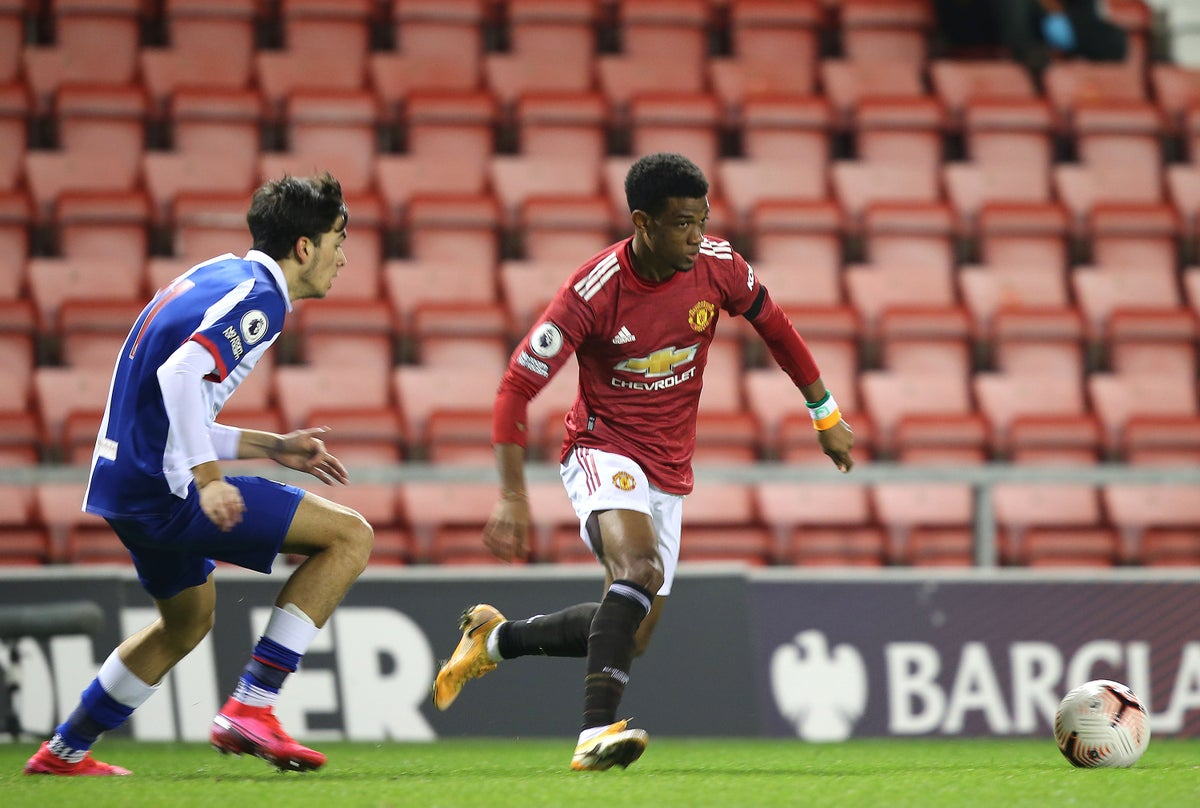 Emad Diallo scored three assists and one goal to lead Manchester United Under-23 to a 6-4 win over Blackburn.
