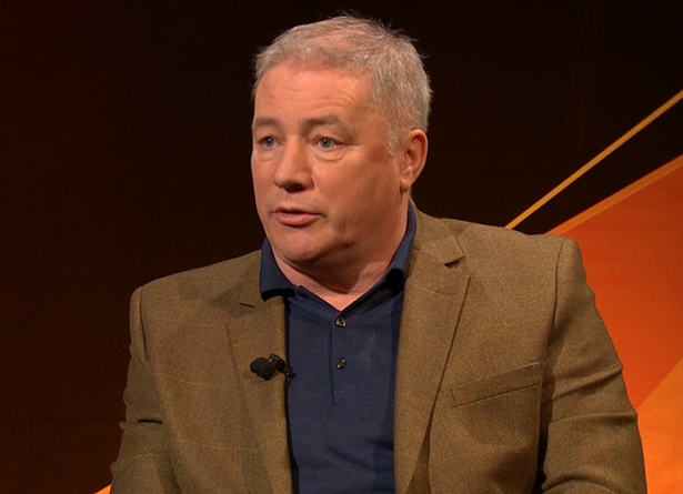 Ally McCoist is on duty for the BT before kick-off
