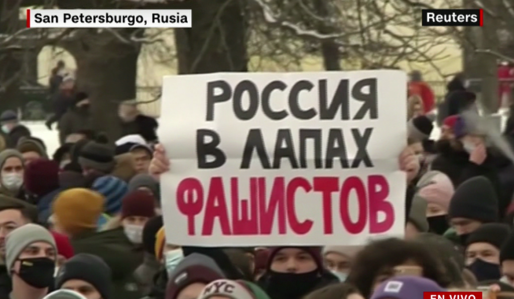 Protests continue in Russia over Navalny's arrest