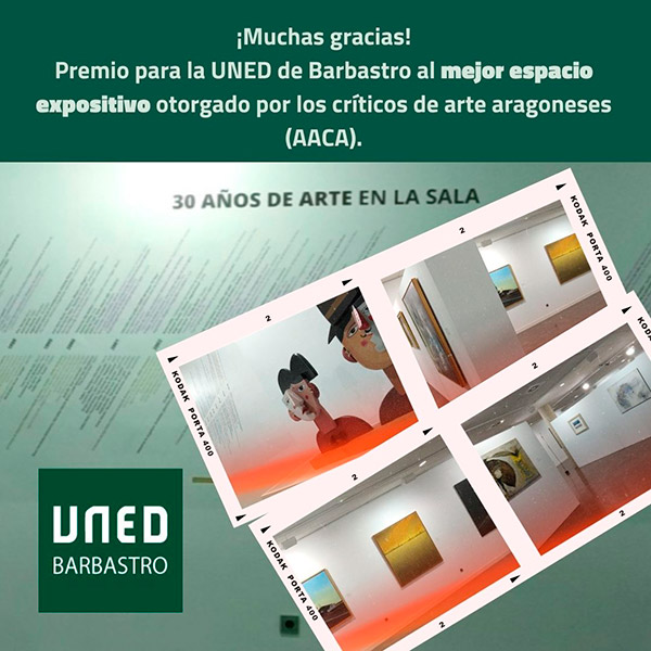 UNED Barbastro won the award for best exhibition space