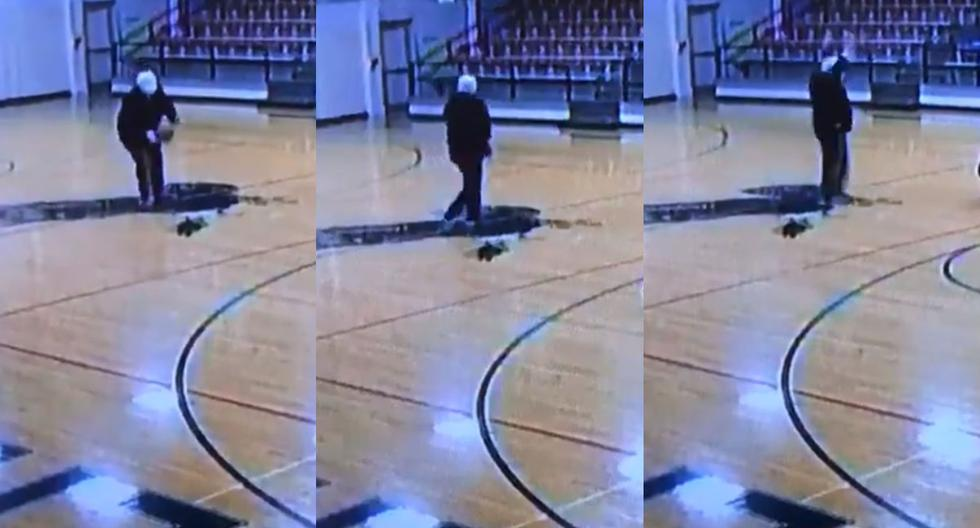 Viral video |  The CCTV camera recorded the amazing talent of a high school concierge |  United States |  United States of America |  Ohio |  Facebook |  FB |  Twitter |  Joe Oriens |  Viral |  nnda nnrt |  Widely