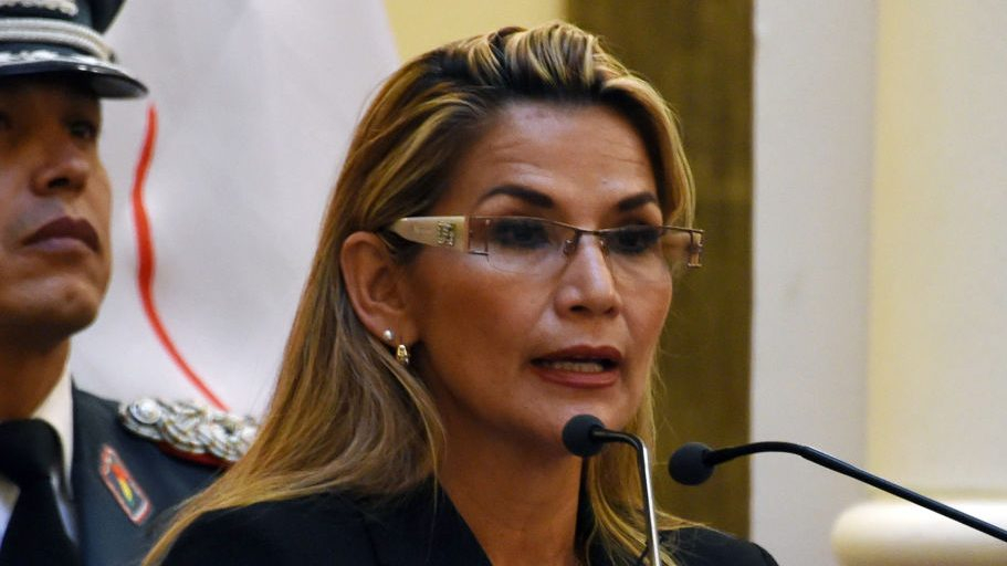 They ordered the arrest of former interim president Janine Anez
