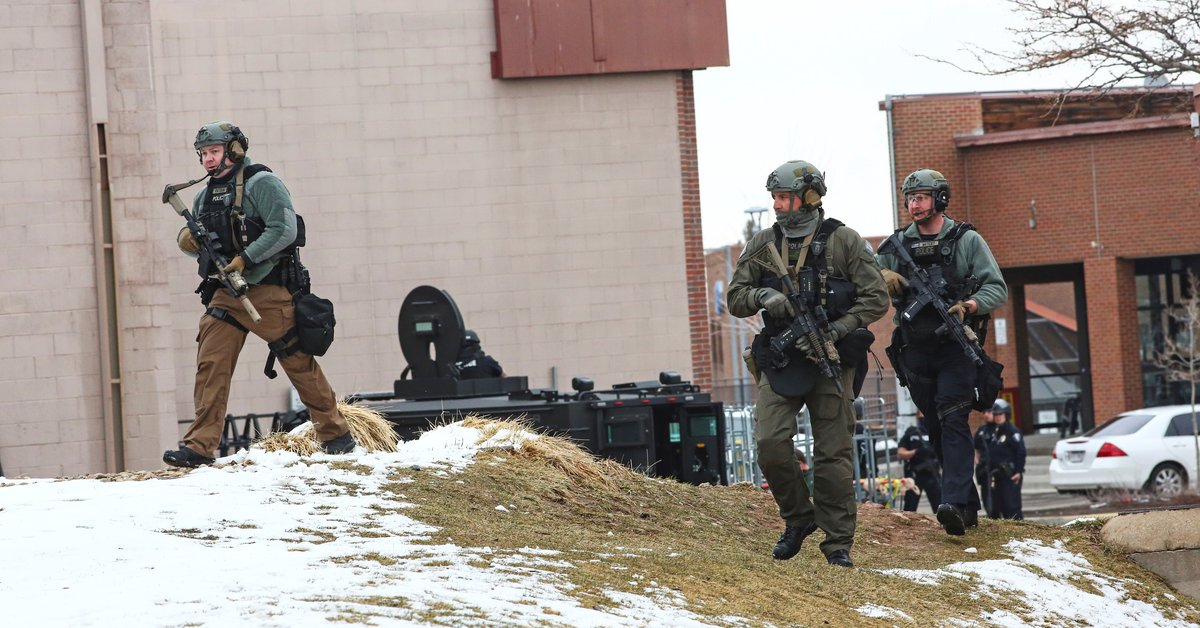 USA: A supermarket in Colorado was surrounded by gunfire