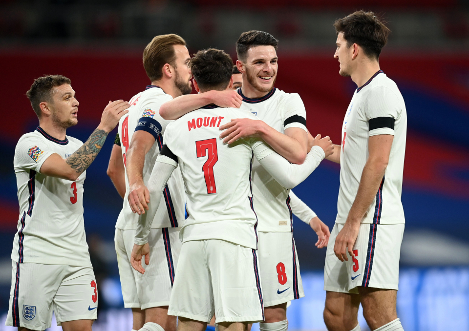 Rice and Mount are both regular regulars under England coach Southgate at the moment
