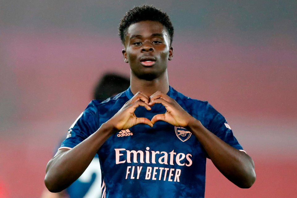 Saka became indispensable to Arsenal and can now star in England