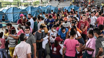 Residents of Venezuela in the Jose Antonio Base municipality in the state of Apur have reached Araguida (Colombia).  Photo: Daniel Fernando Martinez / AFP