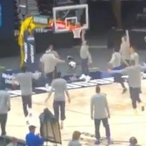 Incredible: Campazzo jumped to flip it and they all jumped with him