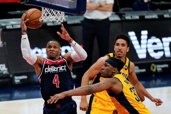 Russell Westbrook was a nightmare for great defender Miles Turner.
