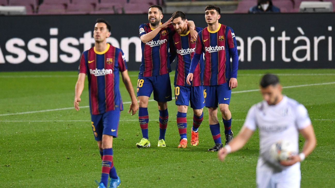 Against Barcelona.  Huska – Competition Report – March 15, 2021