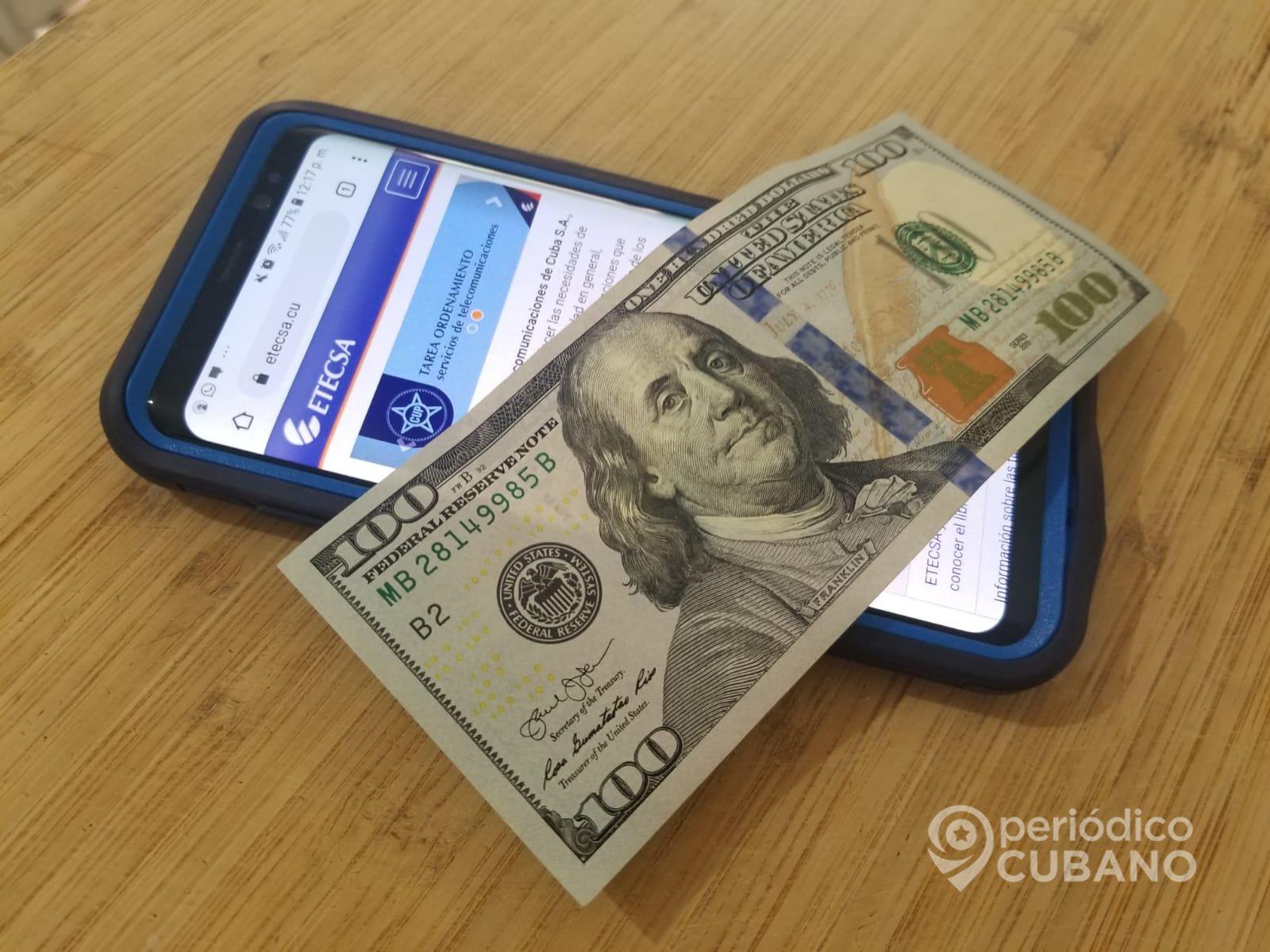 Etecsa transfers and electronic balance to Cuba