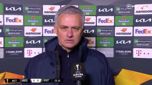"Jose Mourinho responds to criticism by Glenn Hoddle as he described Tottenham as "" diabolical "" by a BT Sport expert after the disastrous defeat in the European League."