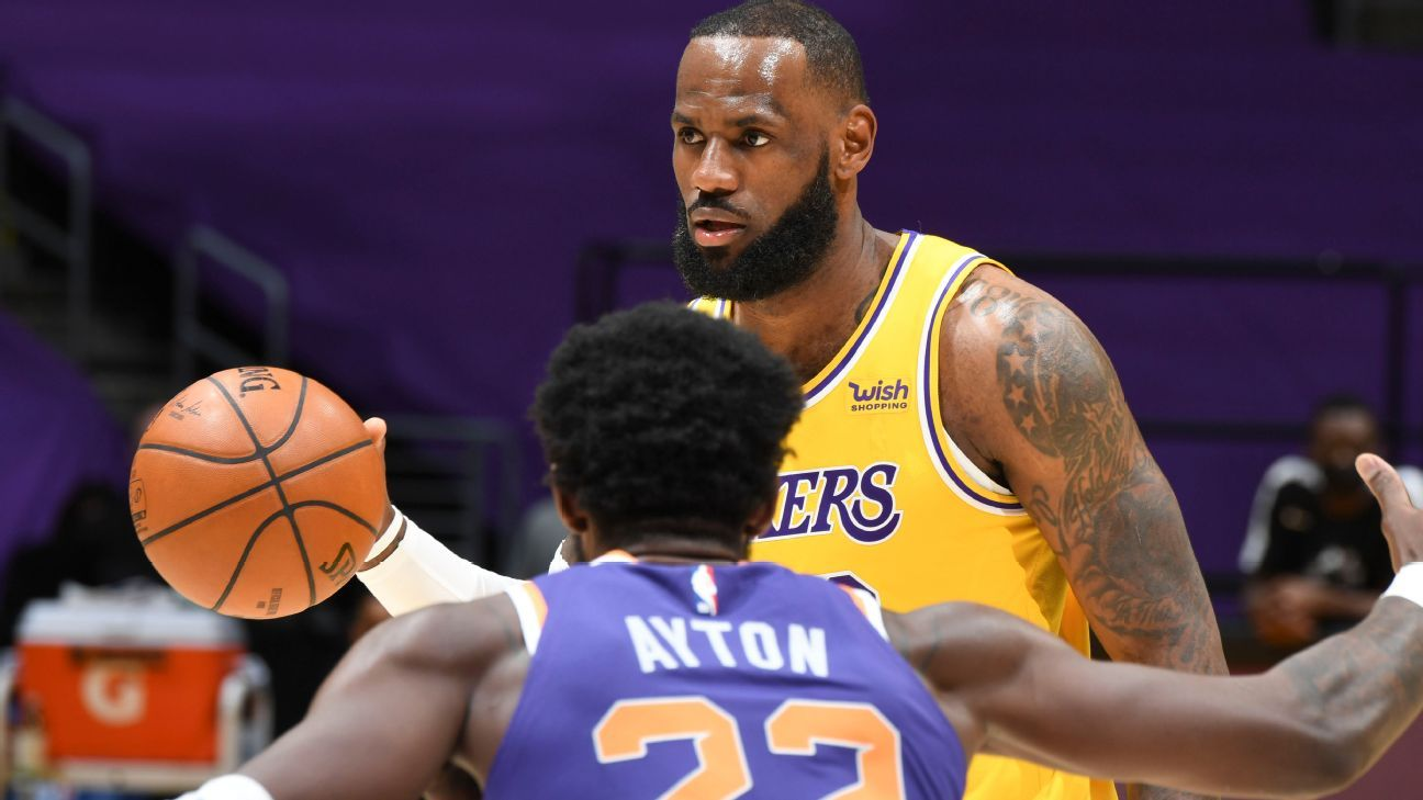 LeBron James is out of the Wednesday game between the Los Angeles Lakers and the Sacramento Kings